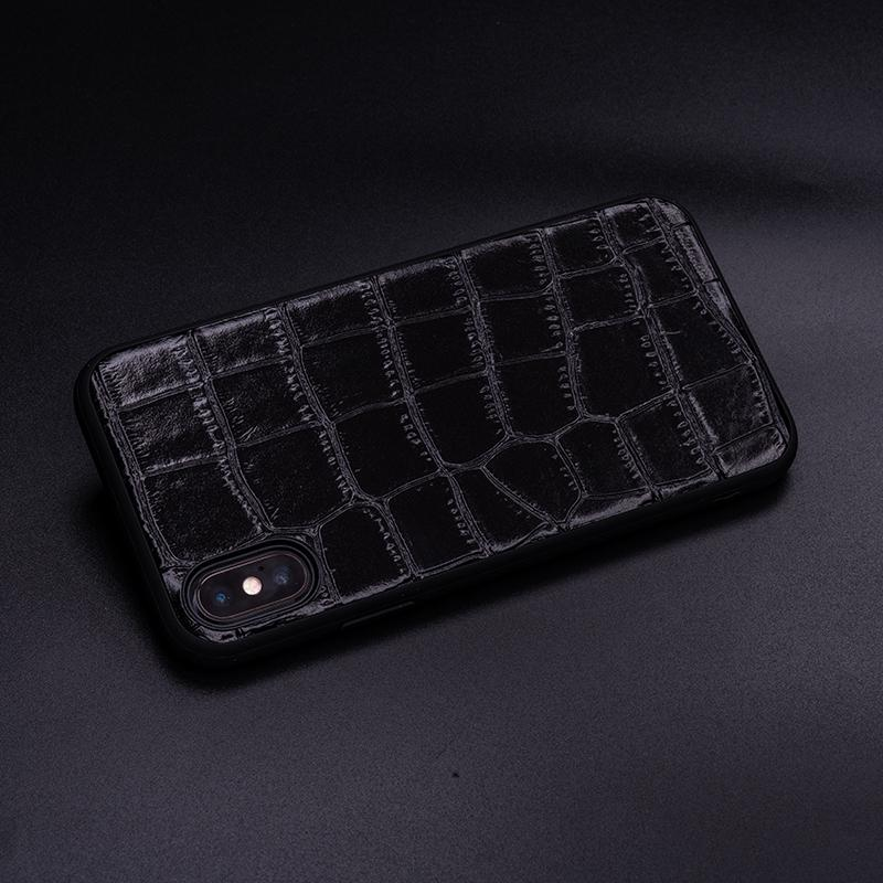 Cowhide Crocodile Belly Grain Phone Case For IPhone X XS Max XR For Apple 5 5S SE 6 6S 7 8 Plus Protect Phone Fitted Case