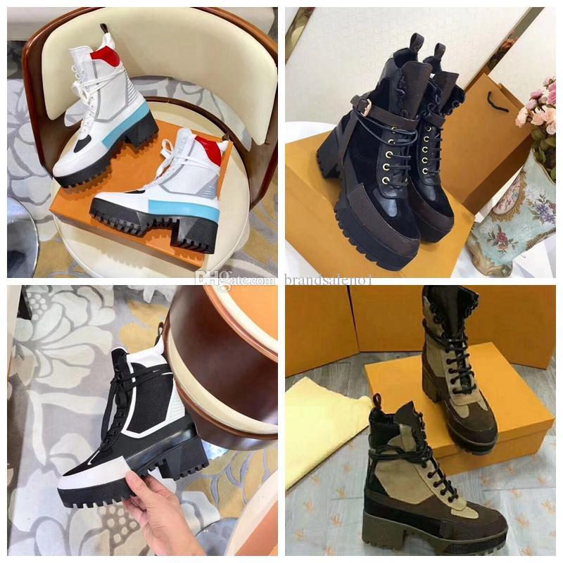 0d73dd55bbe67 Compre Botas De Diseñador Hombres De Cuero De Alta Calidad Para Mujeres  Suelas Para Trabajo Pesado Botas De Nieve Botas Martin Al Por Mayor Moda  Zapatos De ...