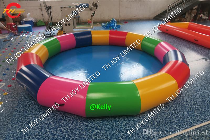 colorful inflatable round water pool for sale cheap round inflatable  swimming pool outdoor kids summer water sport game toys