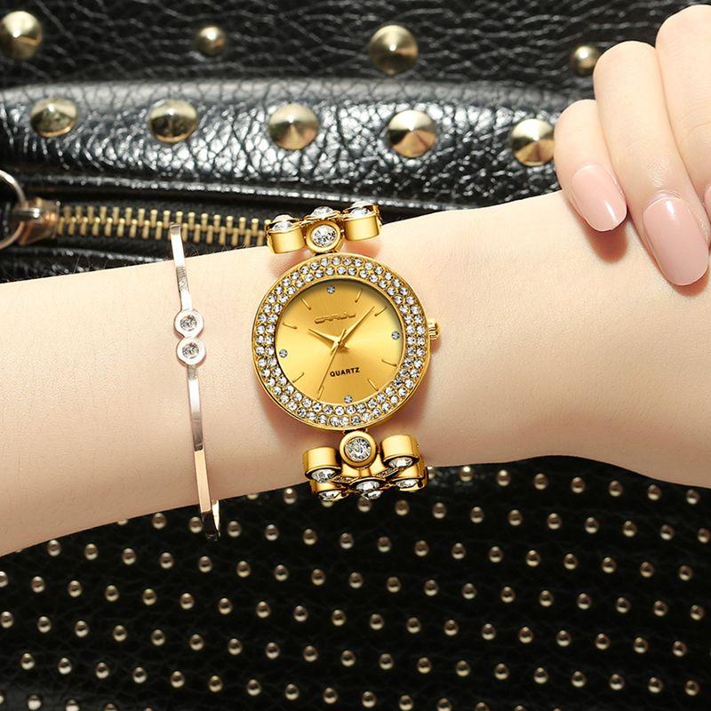 39ec6b247d116 Womens Watch Famous Brand Gold Fashion Design Rhinestone Bracelet Ladies  Watches Women Quartz Wristwatches Reloj Mujer Girl Gift Black Watches  Wholesale ...