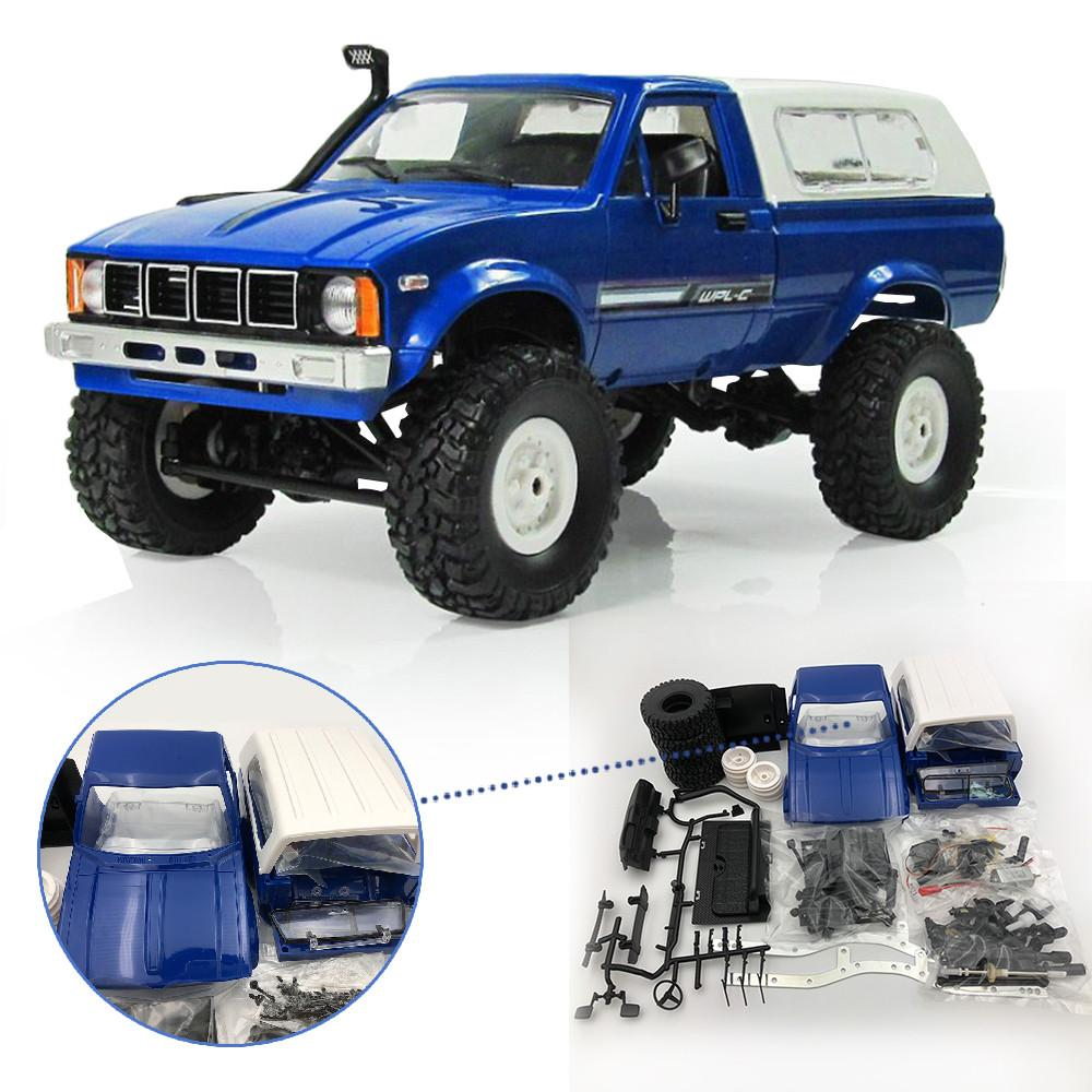 WPL C-24 1/16 4WD 2.4G Military Truck Buggy Crawler Off Road RC Car 2CH RTR Toy Kit Without Electric Parts
