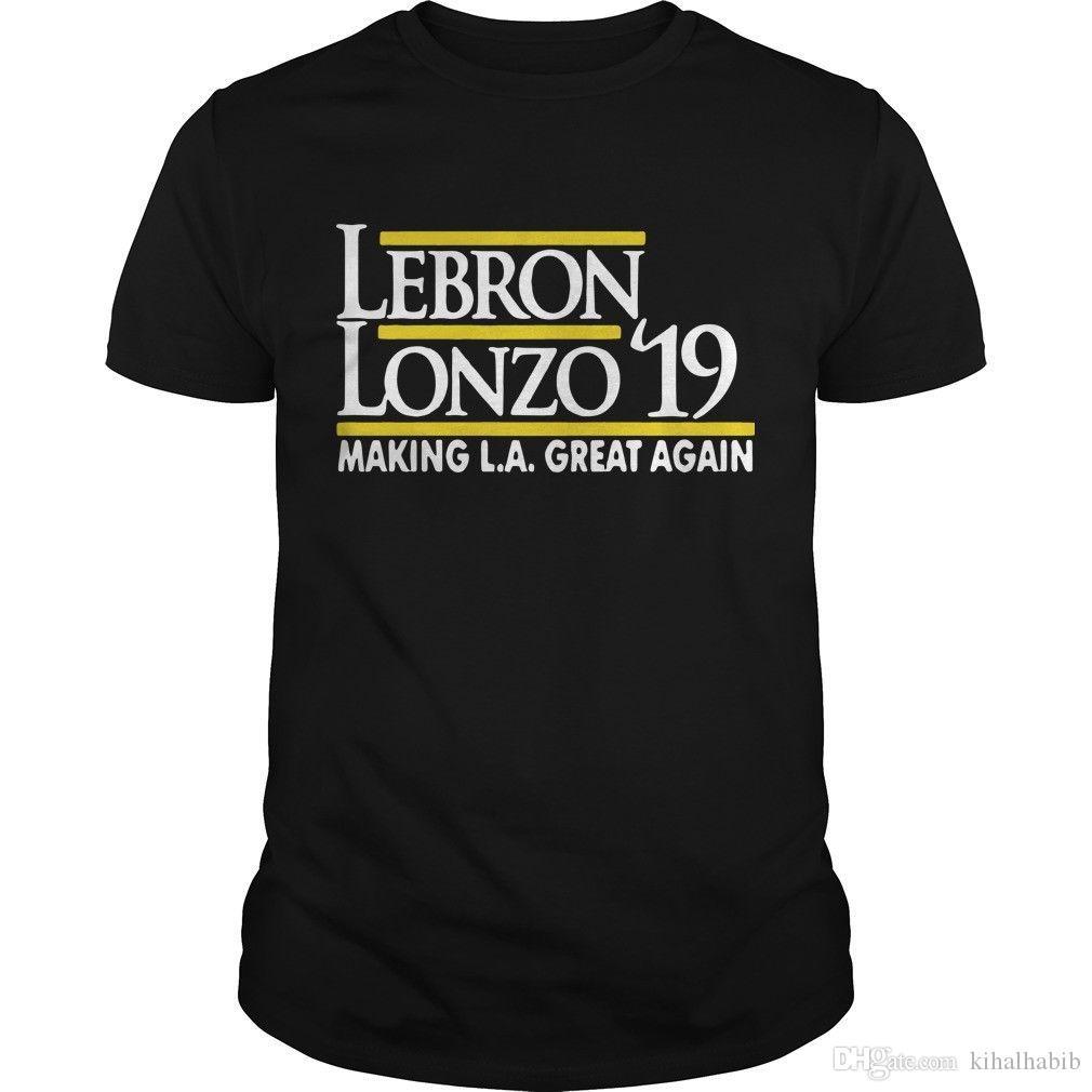 info for 139fe ba84b Lebron Lonzo 19 Making LA Great Again Shirt Size S to 2XL