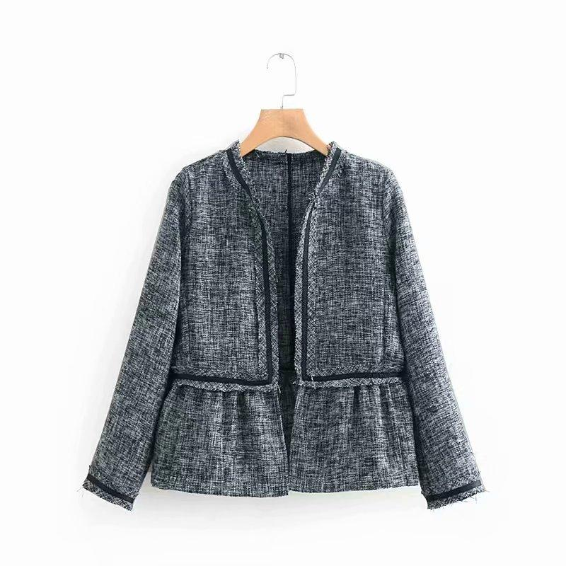 New Spring Slim Women Coat Fashion Elegant Womens Jackets and Coats Vintage Office Lady Outerwear Open Stitch Jacket YT50134