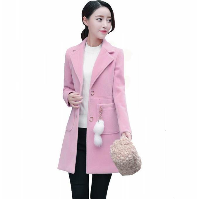 fa1f832ce99a Chaquetas de invierno para mujer 2019 nuevo popular abrigo de lana largo  otoño e invierno delgado para mujer del cuerpo abrigo de lana ropa de mujer
