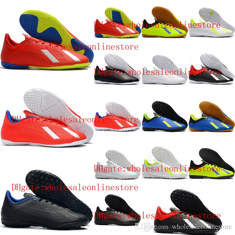 size 40 1c42b 3a5b3 2019 new arrival top quality indoor soccer shoes low ankle mens soccer  cleats X Tango 18.4 TF football boots X 18 high ankle scarpe calcio