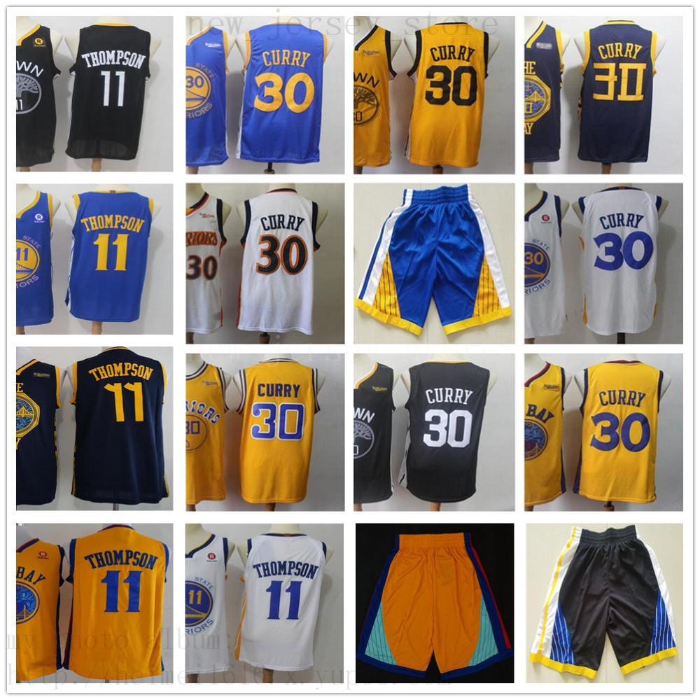 watch 99570 e5c6d Men City Warriors Earned Stephen #30 Curry White Retro Jersey The Town  Black Klay 11 Thompson Home Road Blue Edition Basketball Jersey