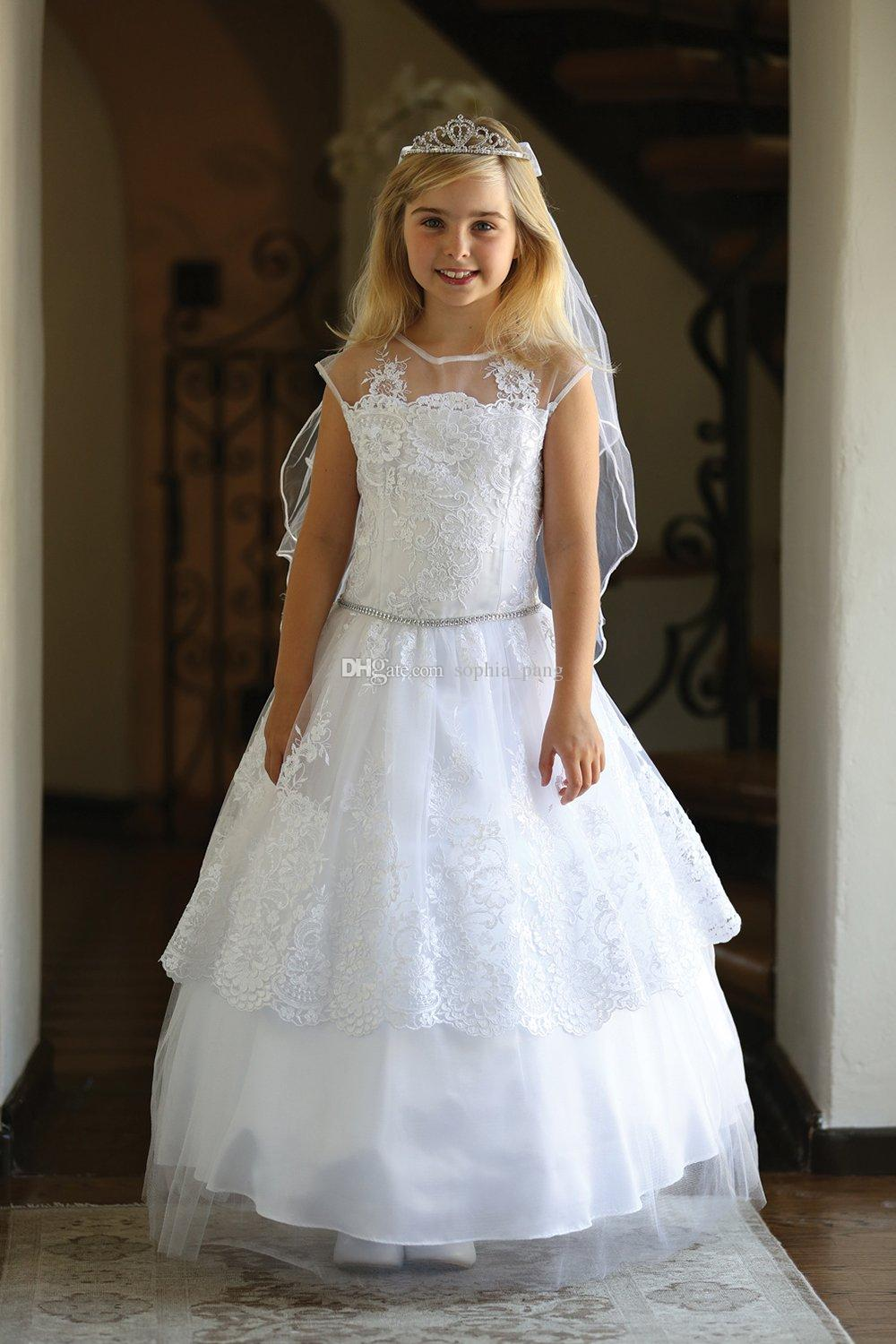 2019 lovely ivory first holy communion dresses lace