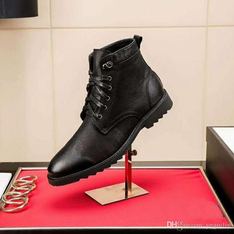 dd2024fb Compre Botas De Cuero De Los Hombres De Marca Italiana De Lujo De Vestir De  Negocios Transpirable Con Cordones Zapatos De Borla Caballero Casual  Zapatos De ...