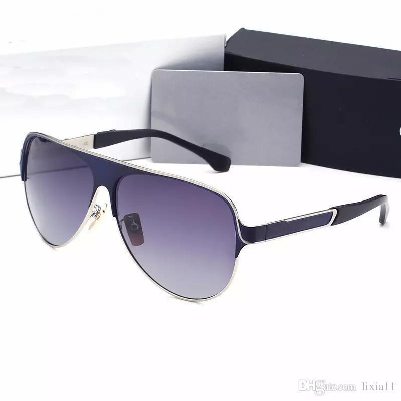 1242845689d05 Luxury Brand Designer Men Sunglasses Ovresize Metal Frame Driving ...
