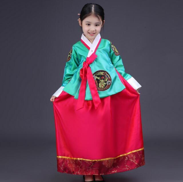 24f0b3fd58328 Hot Sale Hanbok girl 2017 New Fashion Children dress Korean traditional  dress