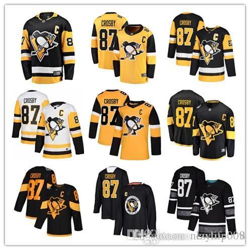 fb44d8edc58e8 custom 2019 Men's Penguins 87 Sidney Crosby Fanatics Branded Black  Breakaway Player Pittsburgh women kids Jersey