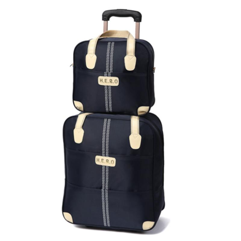 b44216ef7c 20 Inch Waterproof Trolley Suitcase Luggage Spinner Wheels Pull Rod Trunk Traveller  Case Boarding Bag With Handbag Set Package Briefcases Garment Bags From ...