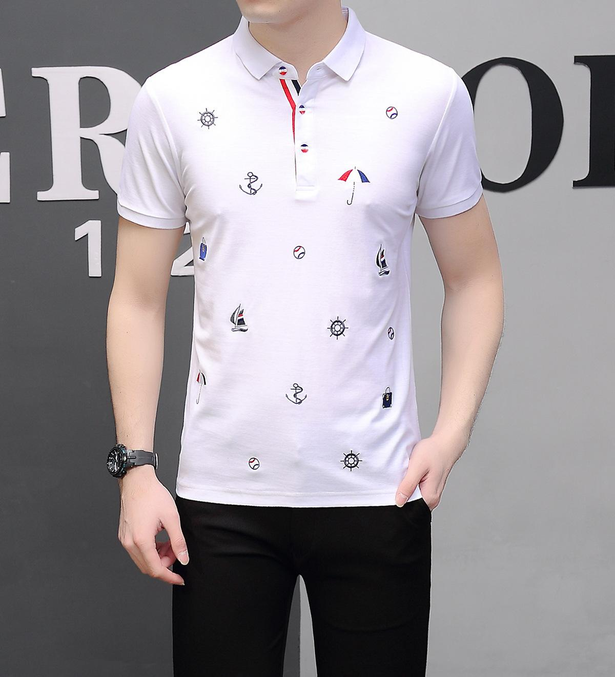 3208ad088 Man Short Sleeve T T Shirt Summer New Pure Cotton Embroidery T T Shirt T  Shirt T Shirt Shop Design Crazy T Shirts Online From Yunhui10, $36.55|  DHgate.Com