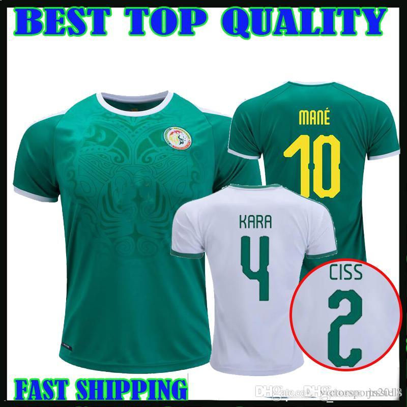 eb59af6be 2019 2019 Senegal Soccer Jersey Home Away 19 20 Senegal Camiseta De Fútbol  MANE KARA CISS Football Shirts Top Thailand Quality Customize From  Jrssiels
