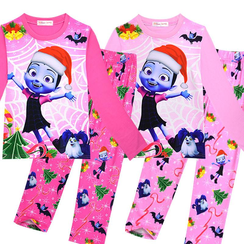 69ba5eb3aa Kids Vampire Pajamas Christmas Vampire Girls Print Sleepwear Girl Cartoon Homewear  Pyjamas Long Sleeve T-shirts +pants Nightgown Sale Online with ...