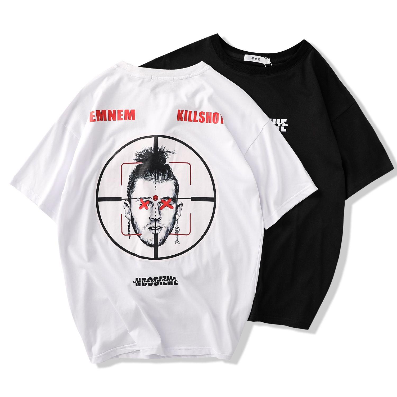 2019 latest design men s clothing summer t-shirt mens short sleeve loose  type digital printing half sleeve tshirt cotton shirts streetwear