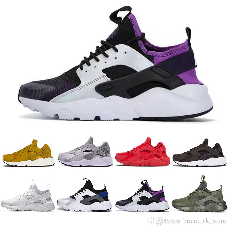 f1738a3f01c89 With Box Air Huarache 4.0 1.0 Men Women Running Shoes White Ultra ...