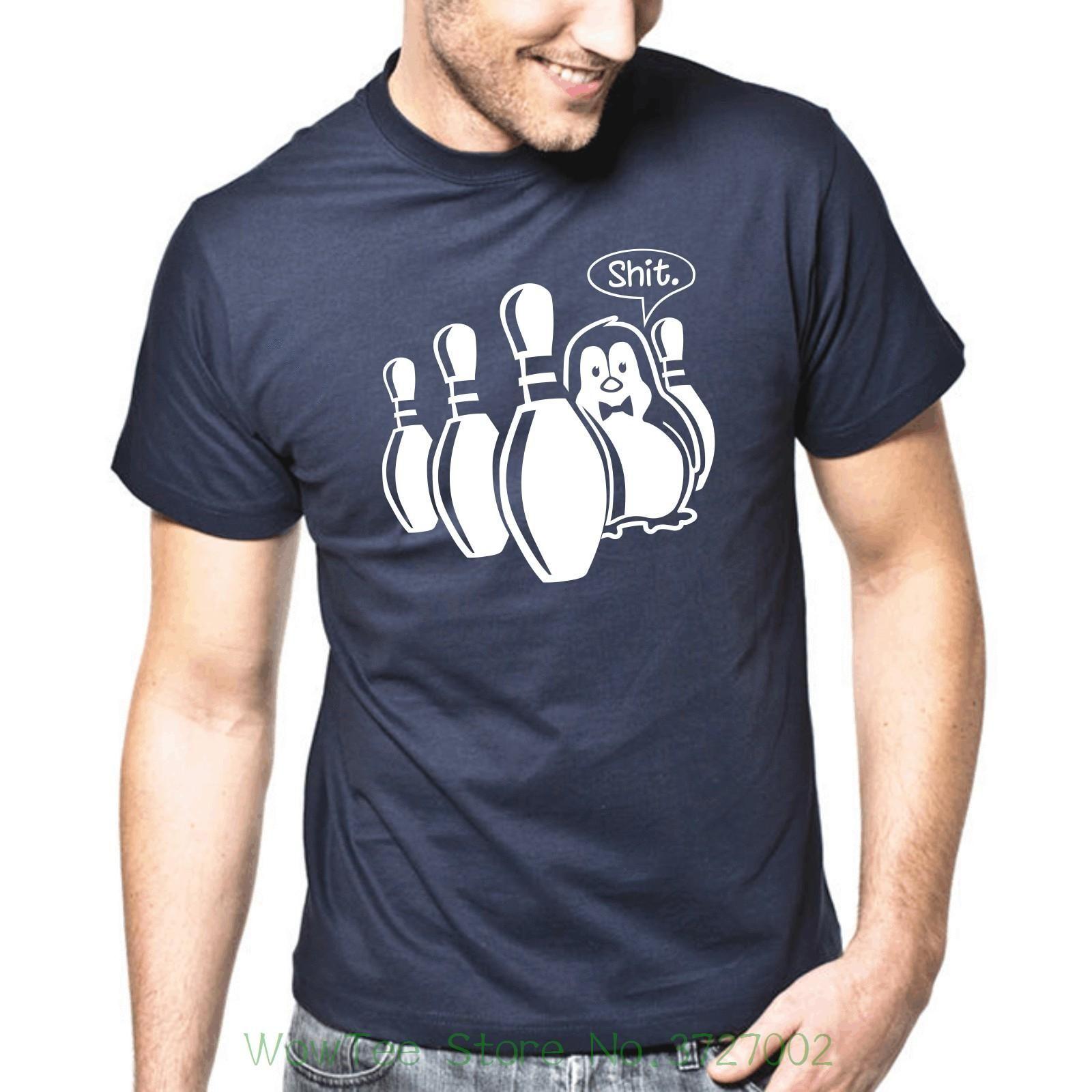 Pinguin Penguin Bowler Kegeln Fun Spruche S Xxl T Shirt Tshirt
