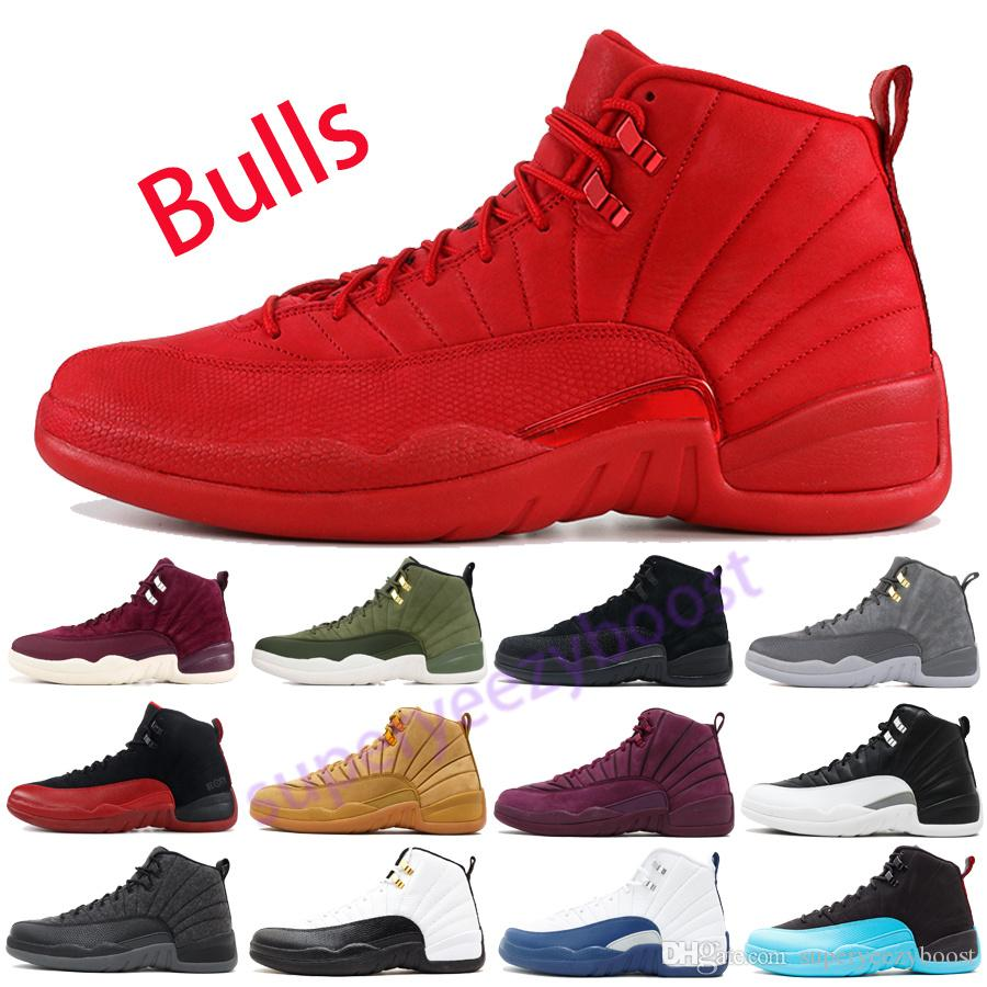 39e2f38d80ce New Bulls 12 12s Basketball Shoes Gym Red Mens OVO Flu Game Wings Trainers  CNY NYC Wool CP3 UNC Taxi Boots Size US8 13 Canada 2019 From  Superyeezyboost
