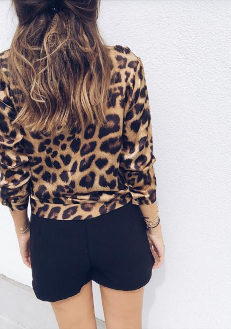 5f9a4134ff0 2019 Vogue Women Ladies Leopard Print Loose Long Sleeve V Neck Sexy Tops  Blouses Female Fashion Shirts Blouses Top Clothing From Jackclot, $9.46 |  DHgate.