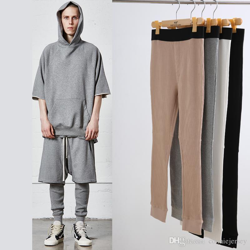7e25af9e31c 2019 Mens Leggings FOG Legging Joggers Men Jogging Mens Clothing High  Street Chic Pant Bieber Pants WAFFLE Legging Warm Pants Joggers Gym Wear  From ...