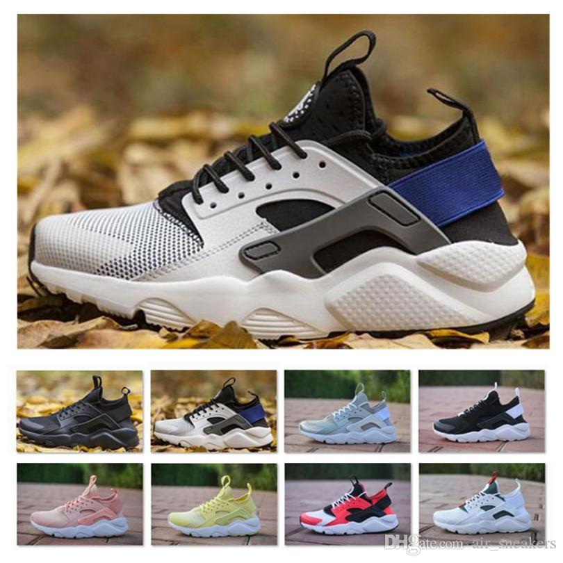 the latest b9e17 46933 New Air Huarache 2018 ID Running Shoes Men Women Hurache Mens navy blue  Huaraches Multicolor Huraches Mens Trainers Harache Sneakers