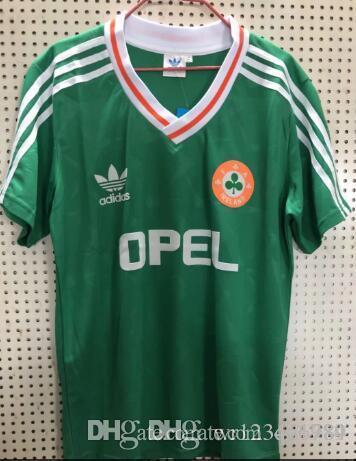 652aacc652b 2019 1990 1992 Ireland RETRO Soccer Jerseys Republic Of Ireland National  Team Jersey 90 World Cup Football Kit Soccer Shirt Green From Qy1984