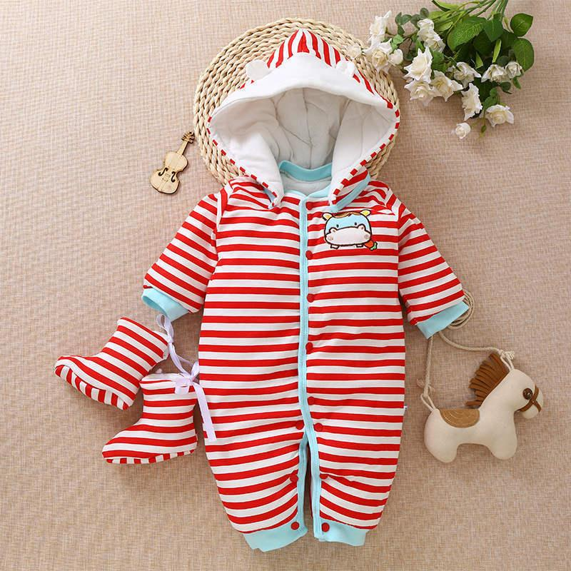8a70946e1 2019 BibiCola 2018 Baby Autumn Winter Romper Newborn Cotton Fashion ...