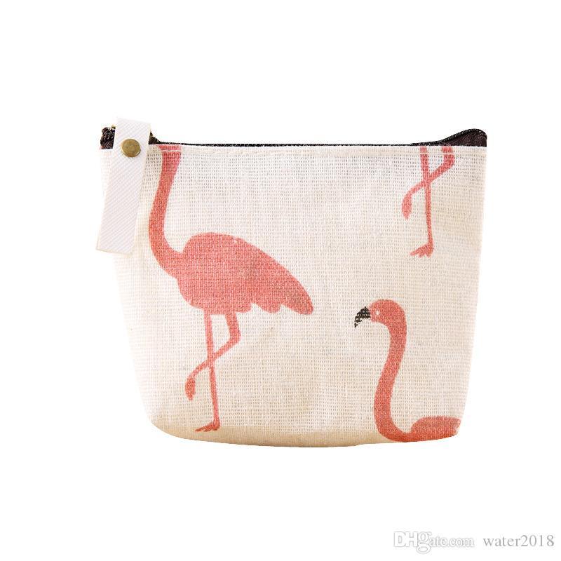 de97320c5e27c2 Großhandel Cartoon Baby Flamingo Geldbörse Kinder Leinwand Stoff Kleine  Geldbörse Reißverschluss Geldbörse Geldbeutel Freies DHL 1218 Von  Water2018, ...