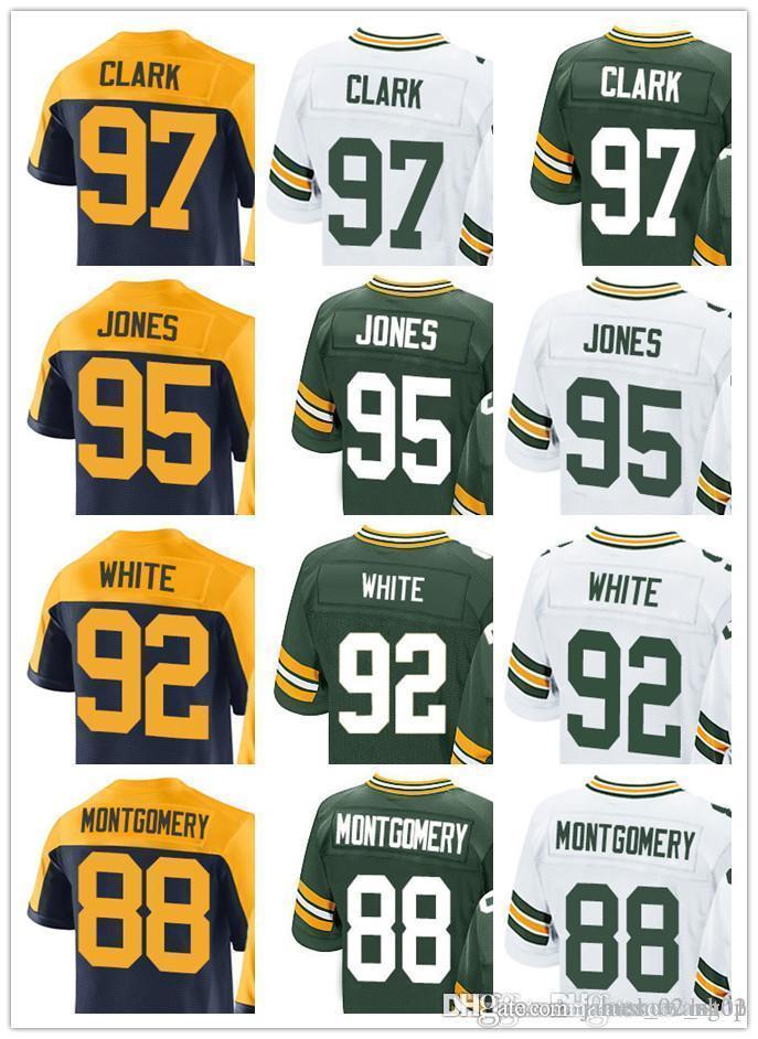 info for 755ec 4a202 custom Green Bays Men Women Youth Jersey Packer #97 Kenny Clark 95 Datone  Jones 92 Reggie White 88 Ty Montgomery Jerseys