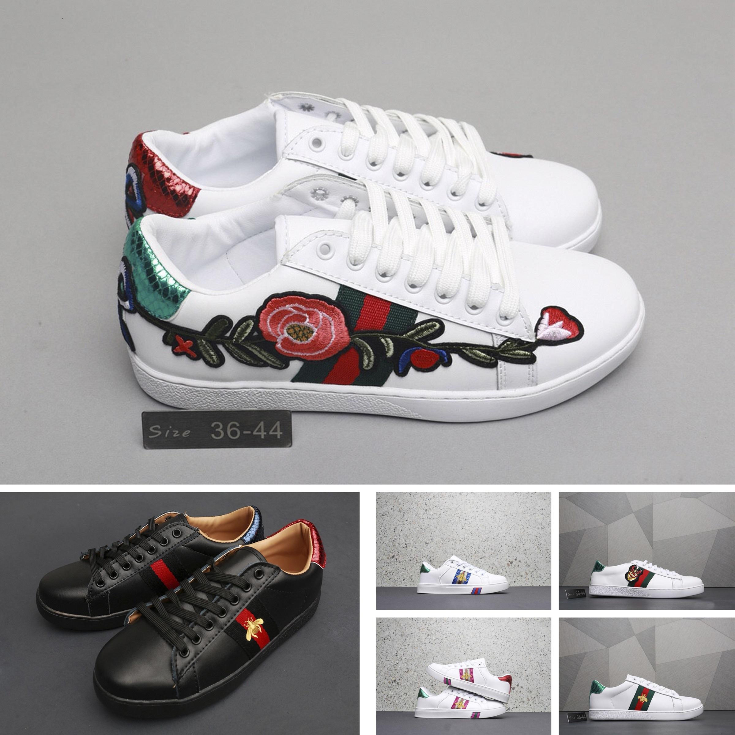 c9f8646ff Compre Mens Gucci Las Zapatillas Deportivas Para Hombre Más Vendidas,  Letras Bordadas, Cosmos, Abeja, Cabeza De Lobo, Zapatos Para Hombre Zapatos  De ...