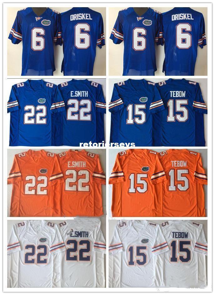 quality design ad1ae 934a3 Mens Florida Gators Tim Tebow Jerseys 22 Emmitt Smith 6 Jeff Driskel NCAA  College Football Jerseys White Blue Orange S-3XL XS-3XL