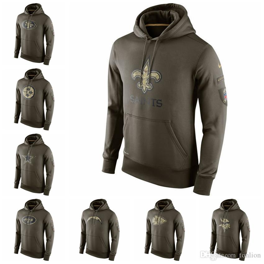 more photos dd251 45a61 Top Quality 2019 Hot Sweater Men Salute to Service Sideline Performance  Hoodie Sweater Bengals Cowboys Jets Chiefs Chargers