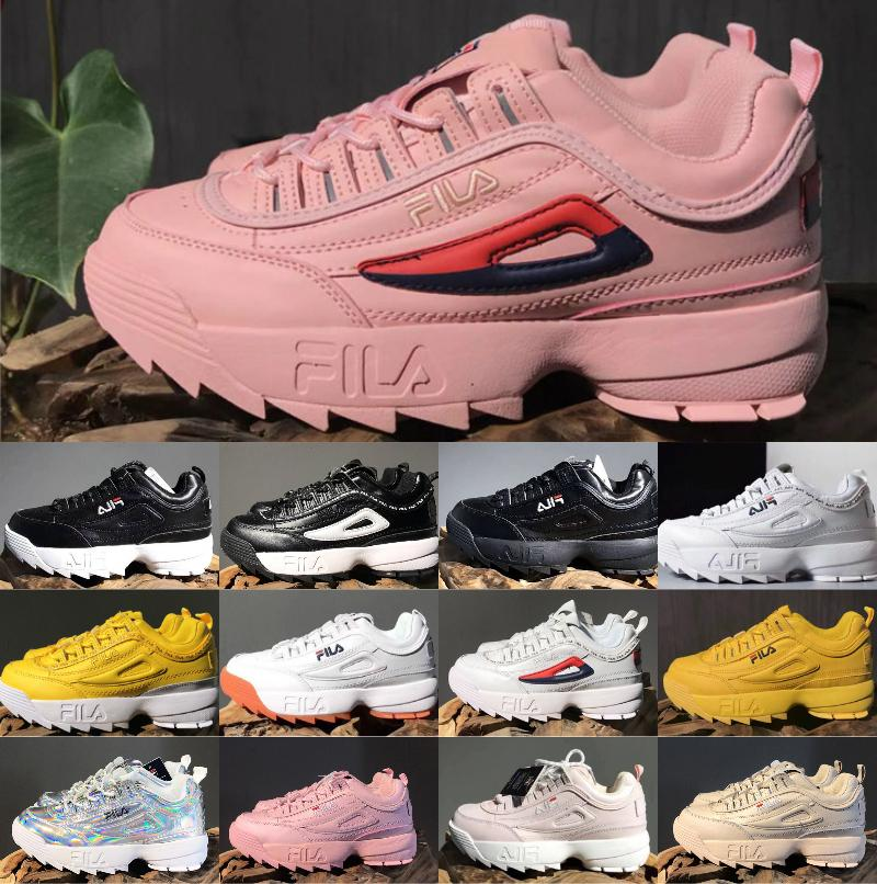 8cd1d3b0d4 2019 Newest FILE Original Running Shoes White Black Sand Grey Gold FILE II  2 Women Men Section Classic Hiking Jogging Casual Sports Sneakers  Basketball ...