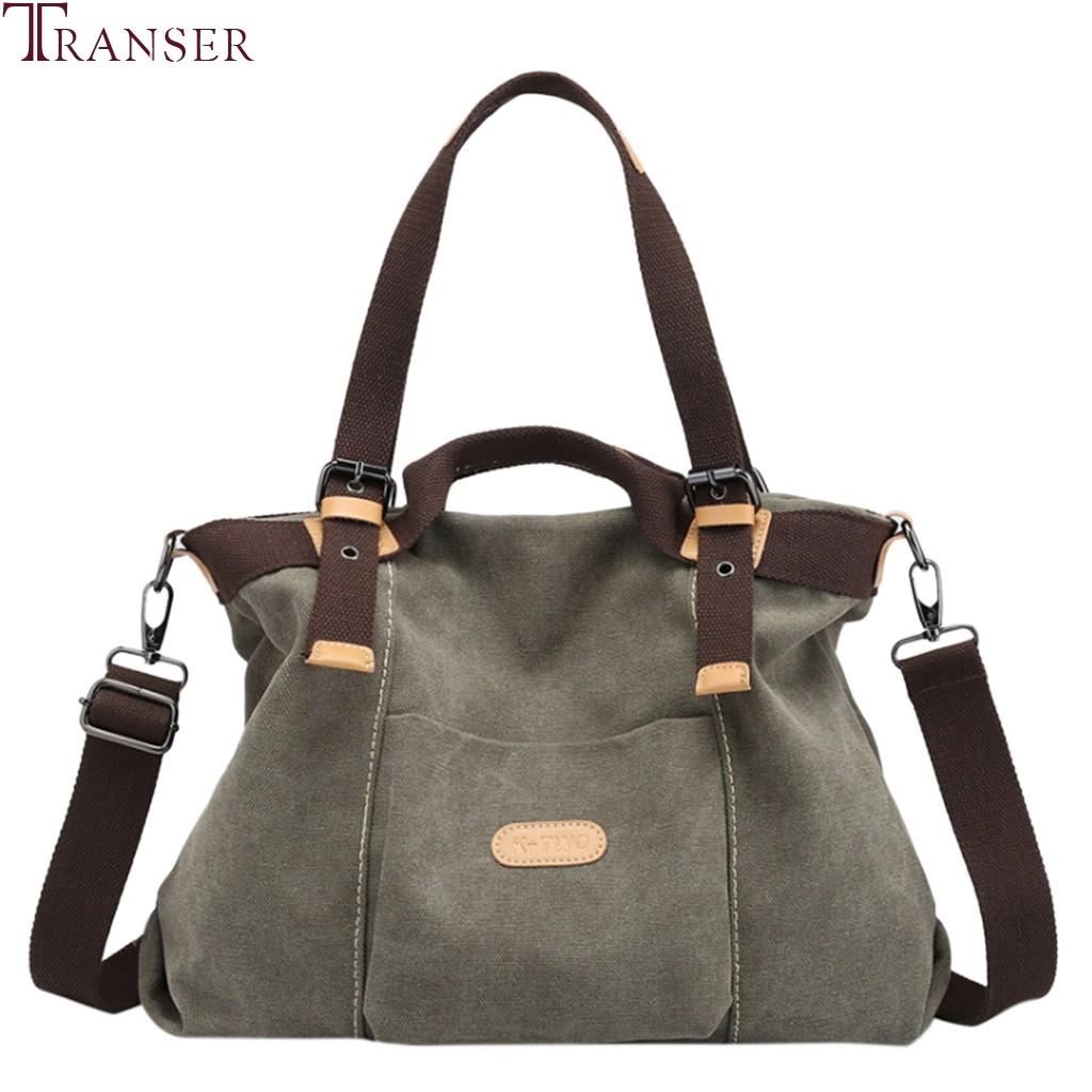 Canvas Sport Shopping Shoulder Bags Fashion Unisex Canvas Messenger Shopping Bag Travel Student School Crossbody Bag Colours Are Striking Pearl