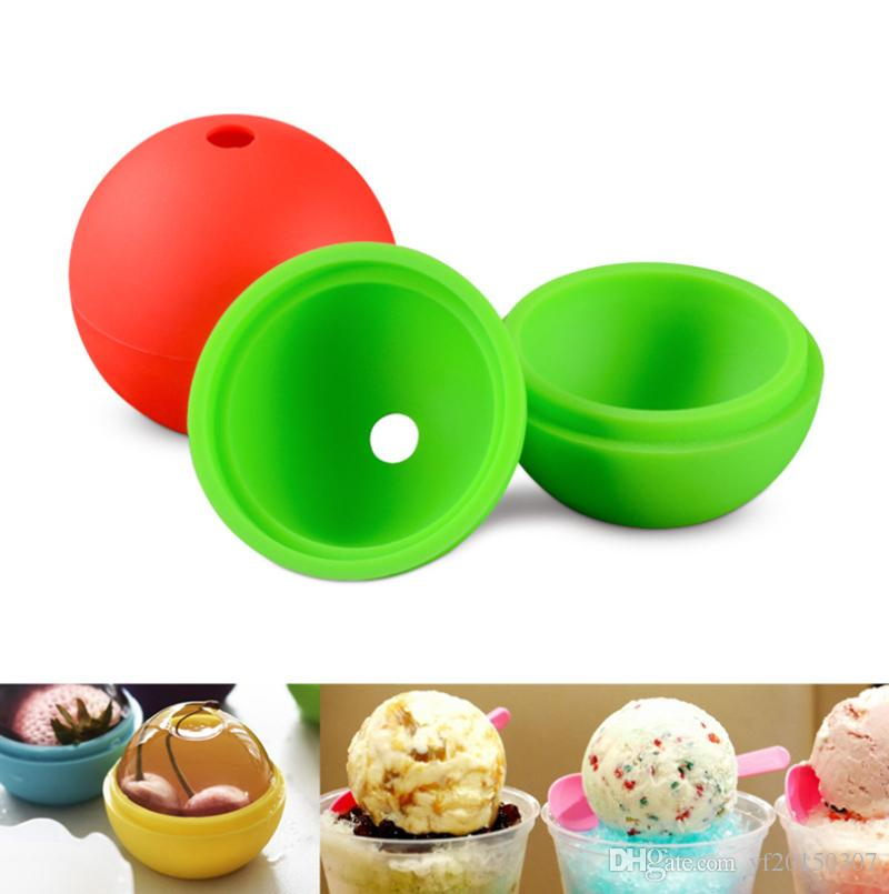 Silicone Ice Ball Mold Cake Mould 6 cm Round Shaped Ice Mould Kicthen Baking Tools