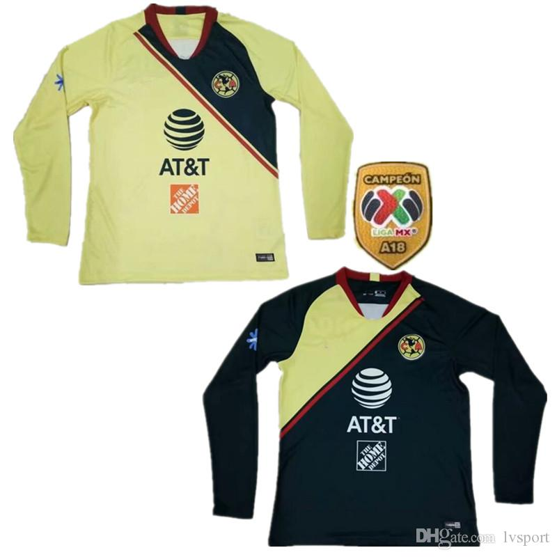 2019 2019 Mexico LIGA MX Club America Home Long Sleeve Soccer Jerseys 18 19  Club De Futbol America Away Soccer Shirt Full Sleeve Football From Lvsport b430790666a0c