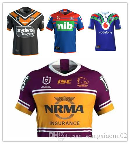 f3c2b2bd519 2019 2019 NRL RUGBY JERSEY WESTS TIGERS 2019 HOME JERSEY Brisbane Broncos Jersey  NRL National Rugby League Rugby NORTH QUEENSLAND Size S 3XL From ...