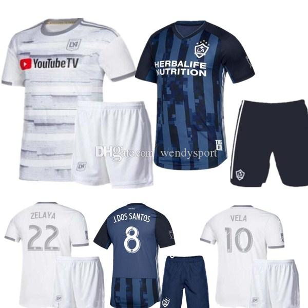 low priced 9944a 81996 LA Galaxy kids kit 2019 kids Soccer jersey Los Angeles Camisa Ibrahimovic  ALESSNDRINI J.DOS SANTOS child kit football shirt uniforms