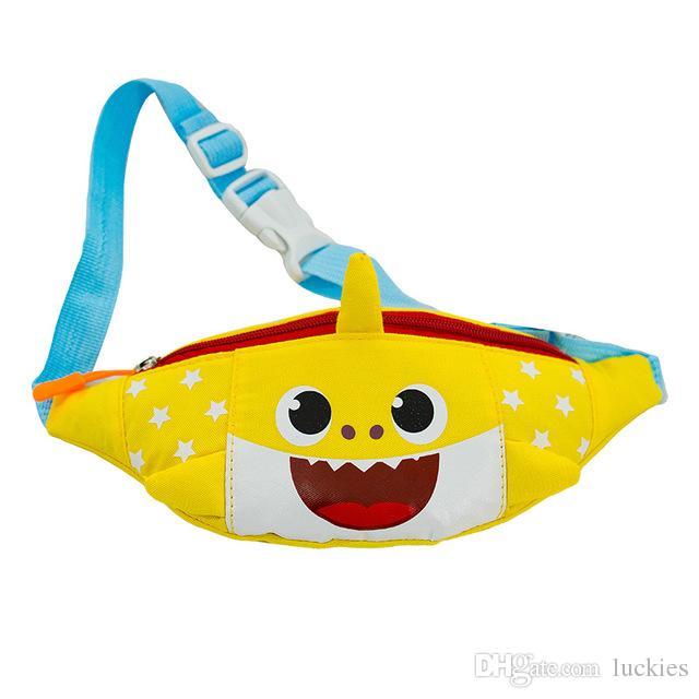 58292ee64e5c Baby Shark Waist Bag Boys Girls One Shoulder Bag Kindergarten Canvas Cute  Cartoon Chest Bag Kids Fanny Packs Zipper Mini Coin Purse
