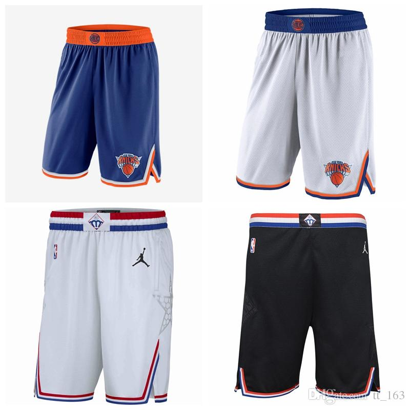 outlet store 74110 bc527 Men s New York NYK Knicks jersey 2018/19 Statement Edition Swingman  Basketball Shorts