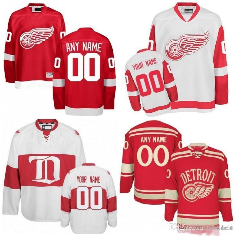 the best attitude dfa70 83f15 Custom Detroit Red Wings White Third Jersey Any Number Name men women youth  kid Athanasiou Nielsen Nyquist Bertuzzi Howe Bernier Yzerman