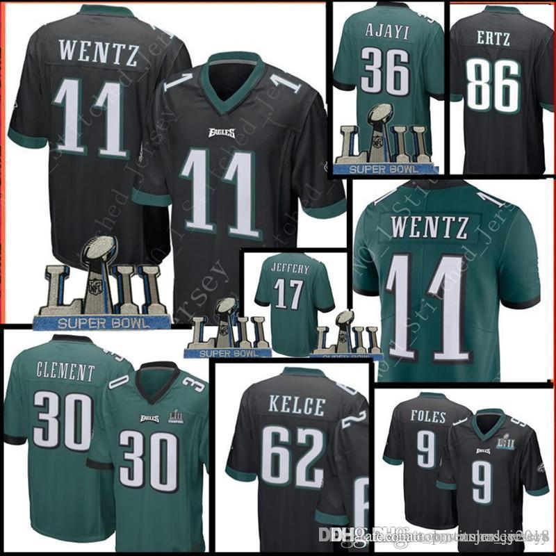 6ddce1a2f20 2019 Philadelphia Eagles 30 Corey Clement 11 Carson Wentz 86 Zach Ertz 62  Jason Kelce Jersey Men 36 Jay Ajayi Jerseys From Topmensjersey2018