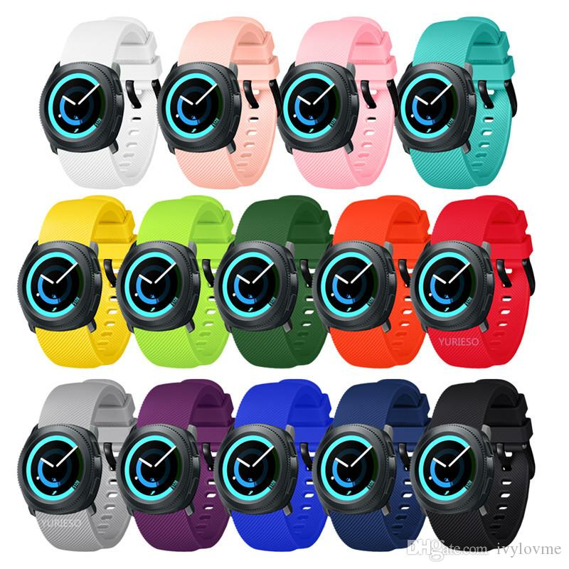 20MM Silicone sport watch band For Samsung Gear S2 732 Gear sport watch For Smasung Galaxy 42mm For samsung Galaxy Watch Active strap