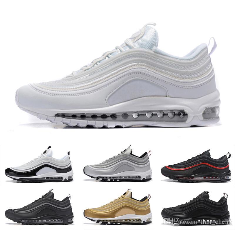7571aeb4f8e Compre 2019 Nike Air Max 97 Almofada Running Shoes Invicto 97 OG Sapatas  Dos Esportes Das Mulheres Dos Homens 97 S Sapatilhas Sapatilhas Designer De  ...
