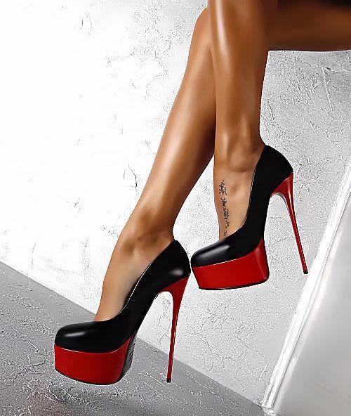 6cc52137ab1fcd Acheter Talons Hauts Sexy Chaussures Femme Talon Aiguille Plate Forme  Chaussures Couleur Mélangée En Cuir Verni Femmes Pompes Bureau Bout Rond  Chaussures De ...