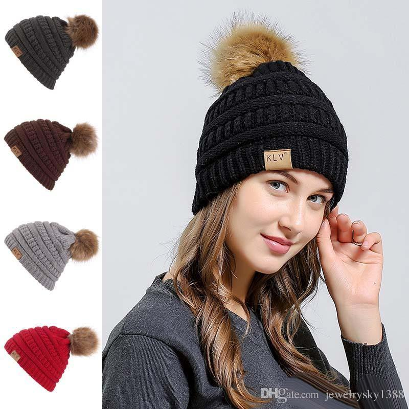 2019 Hot Sale Women S Knitted Hat Caps Warmer Winter Hats ForWomen ... 21a87bd18