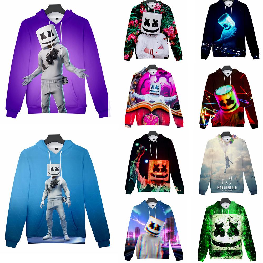 440c354014695 13 styles DJ marshmello hoodie long Sleeves Pullover Tops round Neck  cartoon 3d printed Sweatshirt Jacket home casual clothes FFA1710