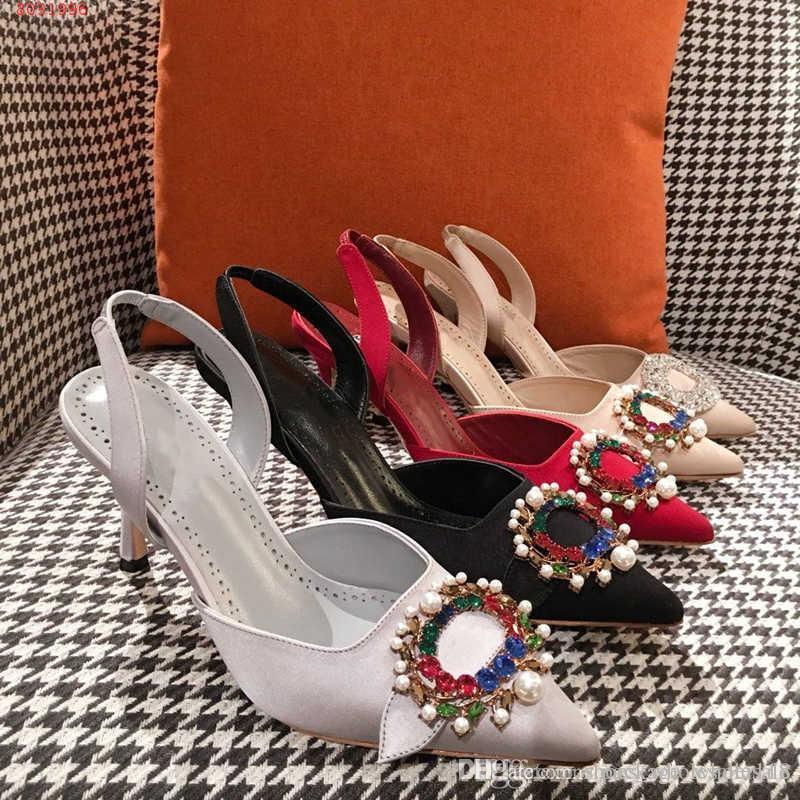 17d0c6686c Compre Alta Qualidade Sandálias De Salto Alto Mulheres Sandálias Decoradas  Com Diamantes E Pérolas Sapatos De Vestido De Casamento High End Atmosfera