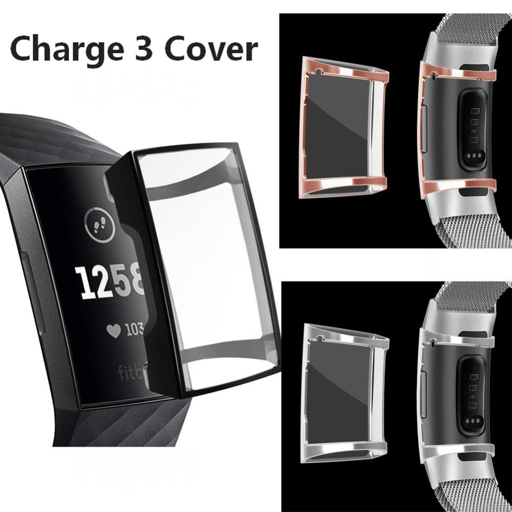quality design c4843 15e75 COMLYO Protective Cover For Fitbit Charge 3 Case Soft TPU Silicone Clear  Case Shell for Fitbit Charge 3 Band Watch Accessories